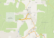 Map of Los Alamos region