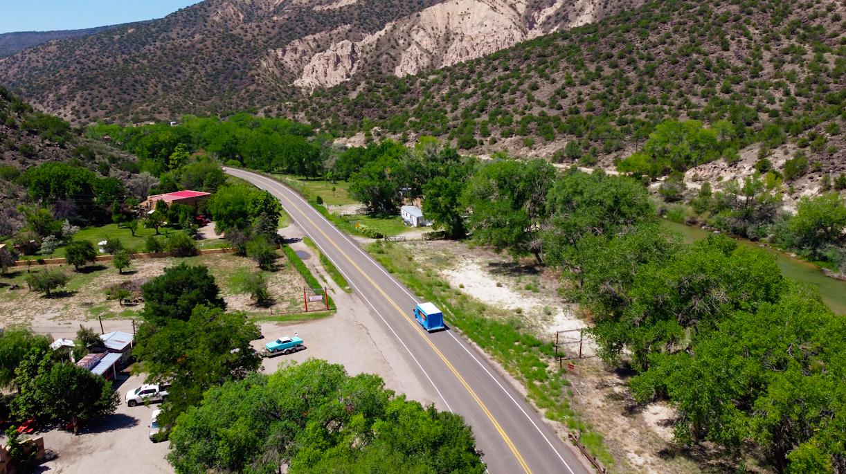 Winding Santa Fe Road